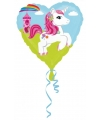 Folie ballon eenhoorn hart 43 cm