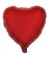 Folie ballon hart rood 52 cm