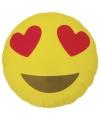 Folie ballon hartjesogen emoticon 46 cm
