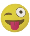 Folie ballon knipoog emoticon 46 cm