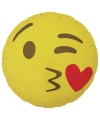 Folie ballon kusje emoticon 46 cm