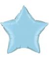 Folie ballon lichtblauwe ster 50 cm