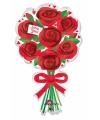 Folie ballon met rode rozen