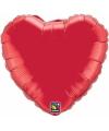 Folie ballon rood hart 45 cm