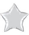 Folie ballon zilveren ster 50 cm