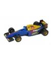 Formule 1 racewagen blauw