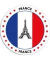 Frankrijk sticker rond 14 8 cm