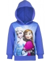 Frozen capuchon sweater paars