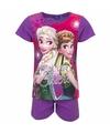 Frozen korte pyjama paars