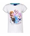 Frozen shirt wit voor meisjes