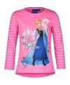 Frozen t shirt roze met blauw