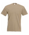 Fruit of the loom t shirt kaky beige
