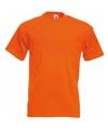 Fruit of the loom t shirt oranje