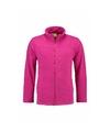 Fuchsia fleece vest met rits voor dames