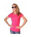 Fuchsia roze dames t shirt bella