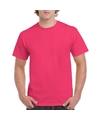 Fuchsia roze katoenen shirt voor volwassenen
