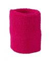Fuchsia roze zweetbandje voor de pols