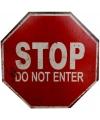 Fun verkeersbord stop do not enter