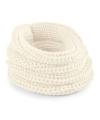 Gebreide col sjaal creme wit