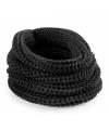 Gebreide col sjaal creme zwart