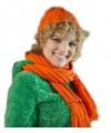 Gebreide sjaal met lange franjes