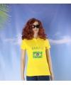 Geel dames poloshirt brazilie