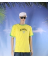 Geel voetbalshirt brazilie volwassenen