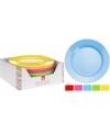 Gekleurd hard plastic bord 20 cm
