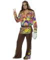 Gekleurd hippie pak voor heren