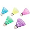Gekleurde badminton shuttles 5 stuks