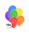 Gekleurde ballonnen 18 stuks