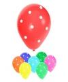 Gekleurde ballonnen met stippen