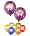 Gekleurde ballonnen met tekstwolkjes