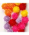 Gekleurde bloemen kralen 20 stuks