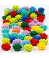 Gekleurde bloemen kralen 250 stuks