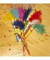 Gekleurde feest toeter 35 cm