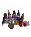 Gekleurde feesthoedjes glitter 144 stuks