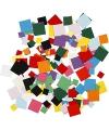 Gekleurde hobby karton vierkantjes 180 gram