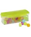 Gekleurde ijsblokjes in box
