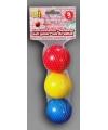 Gekleurde kaatsballen 3 stuks