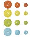 Gekleurde knopen 24 stuks