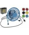 Gekleurde mini ventilator met usb aansluiting