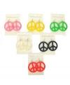 Gekleurde peace oorbellen