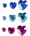 Gekleurde plak diamantjes hart