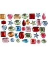 Gekleurde plak diamantjes mix 15 gr