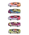 Gekleurde raceauto set 5 stuks