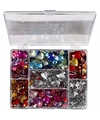 Gekleurde strass stenen in display box