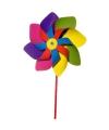 Gekleurde windmolen 20 cm