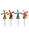 Gekleurde windmolen tuindecoratie
