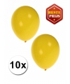 Gele ballonnen 10 stuks